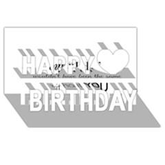 Wedding Favor/thank You Happy Birthday 3d Greeting Card (8x4)