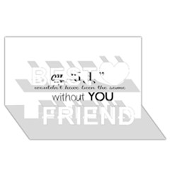 Wedding Favor/thank You Best Friends 3d Greeting Card (8x4)  by LittileThingsInLife
