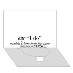 Wedding Favor/thank You Circle Bottom 3d Greeting Card (7x5)  by LittileThingsInLife
