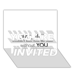 Wedding Favor/thank You You Are Invited 3d Greeting Card (7x5)  by LittileThingsInLife