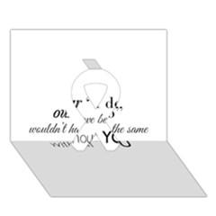 Wedding Favor/thank You Ribbon 3d Greeting Card (7x5)  by LittileThingsInLife