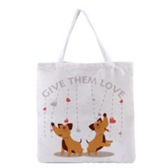 Give Them Love Grocery Tote Bag
