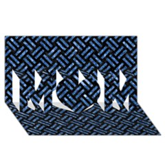 Woven2 Black Marble & Blue Marble Mom 3d Greeting Card (8x4) by trendistuff