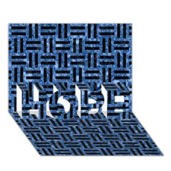Woven1 Black Marble & Blue Marble (r) Hope 3d Greeting Card (7x5) by trendistuff