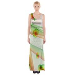 The Wedding Veil Series Maxi Thigh Split Dress by SugaPlumsEmporium