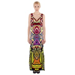 Reflection Maxi Thigh Split Dress by MRTACPANS
