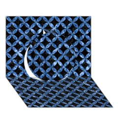Circles3 Black Marble & Blue Marble Circle 3d Greeting Card (7x5) by trendistuff