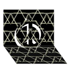 Star Of David   Peace Sign 3d Greeting Card (7x5)  by SugaPlumsEmporium