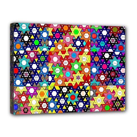 Star Of David Canvas 16  X 12  by SugaPlumsEmporium
