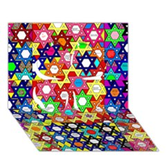 Star Of David Clover 3d Greeting Card (7x5)  by SugaPlumsEmporium