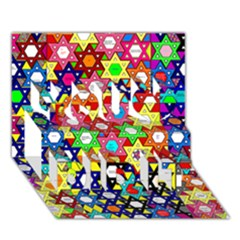 Star Of David You Did It 3d Greeting Card (7x5)