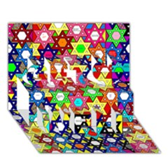 Star Of David Get Well 3d Greeting Card (7x5)  by SugaPlumsEmporium