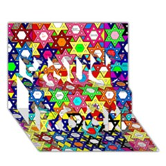 Star Of David You Rock 3d Greeting Card (7x5)  by SugaPlumsEmporium