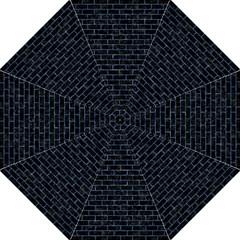Brick1 Black Marble & Blue Marble Hook Handle Umbrella (medium) by trendistuff