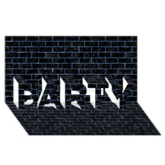 Brick1 Black Marble & Blue Marble Party 3d Greeting Card (8x4) by trendistuff