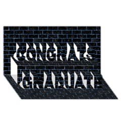 Brick1 Black Marble & Blue Marble Congrats Graduate 3d Greeting Card (8x4) by trendistuff