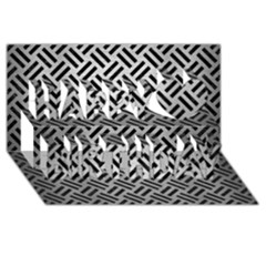 Woven2 Black Marble & Silver Brushed Metal (r) Happy Birthday 3d Greeting Card (8x4) by trendistuff