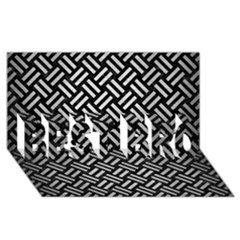 Woven2 Black Marble & Silver Brushed Metal Best Bro 3d Greeting Card (8x4) by trendistuff
