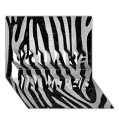 Skin4 Black Marble & Silver Brushed Metal (r) You Are Invited 3d Greeting Card (7x5) by trendistuff