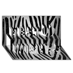 Skin4 Black Marble & Silver Brushed Metal Best Wish 3d Greeting Card (8x4) by trendistuff
