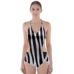 SKN4 BK MARBLE SILVER Cut-Out One Piece Swimsuit by trendistuff