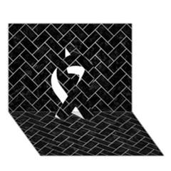 BRK2 BK MARBLE SILVER Ribbon 3D Greeting Card (7x5)  by trendistuff