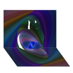 Eye Of The Galactic Storm Apple 3d Greeting Card (7x5)  by StuffOrSomething