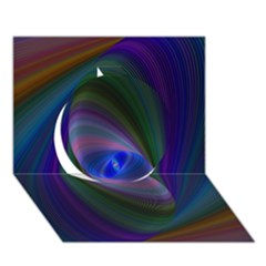 Eye Of The Galactic Storm Circle 3d Greeting Card (7x5)  by StuffOrSomething
