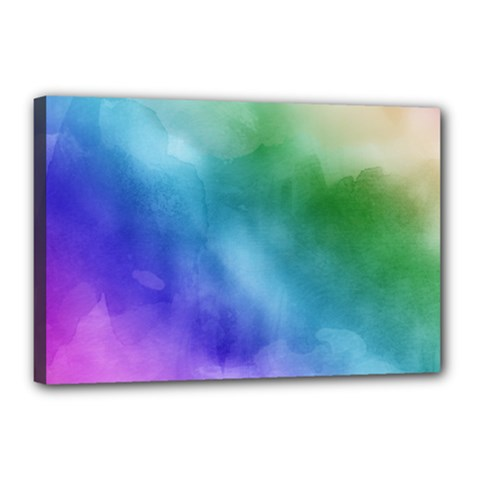 Rainbow Watercolor Canvas 18  X 12  by StuffOrSomething