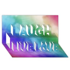Rainbow Watercolor Laugh Live Love 3d Greeting Card (8x4)  by StuffOrSomething