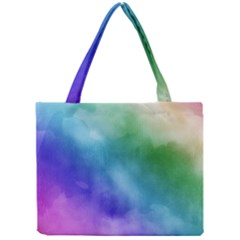 Rainbow Watercolor Mini Tote Bag by StuffOrSomething