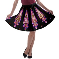 Stained Glass Window A Line Skater Skirt by SimplySherlock