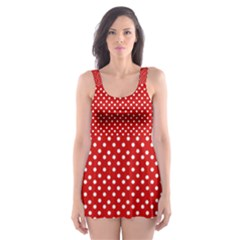 Dots Red Skater Dress Swimsuit by olgart