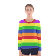 Rainbow Top Women s Long Sleeve Tee by Ellador