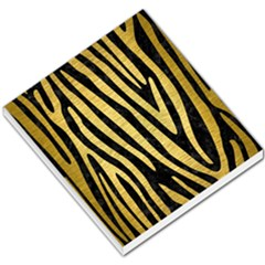 Skin4 Black Marble & Gold Brushed Metal (r) Small Memo Pads by trendistuff