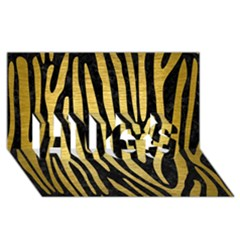 Skin4 Black Marble & Gold Brushed Metal (r) Hugs 3d Greeting Card (8x4) by trendistuff