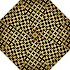 HTH2 BK MARBLE GOLD Hook Handle Umbrellas (Large) by trendistuff