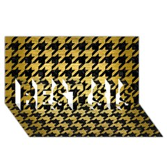 Houndstooth1 Black Marble & Gold Brushed Metal Best Sis 3d Greeting Card (8x4) by trendistuff