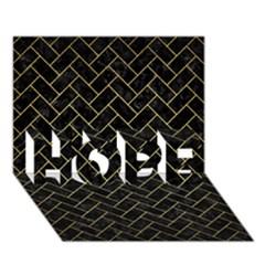 Brick2 Black Marble & Gold Brushed Metal Hope 3d Greeting Card (7x5) by trendistuff