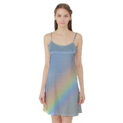 Colorful Natural Rainbow Satin Night Slip by yoursparklingshop