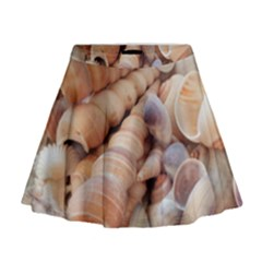 Exotic Tropical Romantic Sea Shells Mini Flare Skirt by yoursparklingshop