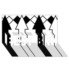 Funny Black And White Stripes Diamonds Arrows Best Bro 3d Greeting Card (8x4)  by yoursparklingshop