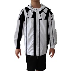 Funny Black And White Stripes Diamonds Arrows Hooded Wind Breaker (kids) by yoursparklingshop