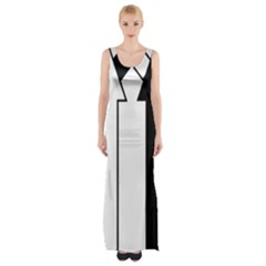 Funny Black And White Stripes Diamonds Arrows Maxi Thigh Split Dress by yoursparklingshop