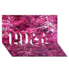 Festive Hot Pink Glitter Merry Christmas Tree  Hugs 3d Greeting Card (8x4)  by yoursparklingshop