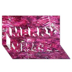 Festive Hot Pink Glitter Merry Christmas Tree  Merry Xmas 3d Greeting Card (8x4)  by yoursparklingshop