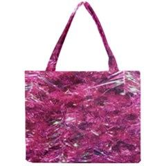 Festive Hot Pink Glitter Merry Christmas Tree  Mini Tote Bag by yoursparklingshop