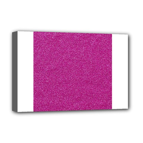 Metallic Pink Glitter Texture Deluxe Canvas 18  X 12   by yoursparklingshop