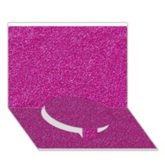 Metallic Pink Glitter Texture Circle Bottom 3d Greeting Card (7x5)  by yoursparklingshop