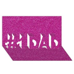 Metallic Pink Glitter Texture #1 Dad 3d Greeting Card (8x4)  by yoursparklingshop